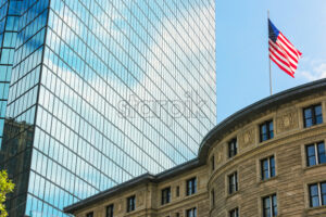 Architecture buildings in city of Boston downtown, United States of america - Starpik Stock