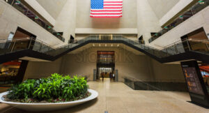 Building of Boston city Public Library interior, USA - Starpik Stock