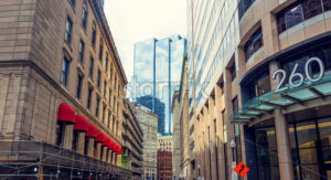 Tall buildings of Boston city downtown, USA - Starpik Stock