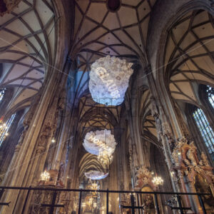 VIENNA – AUSTRIA, MAY 14, 2016: Stephansdom cathedral interior - Starpik Stock