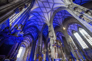 VIENNA – AUSTRIA, MAY 14, 2016: Stephansdom cathedral interior - Starpik Stock