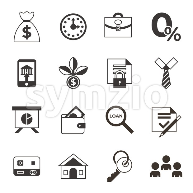 Social score credit and banking payment icons infographics, digital vector Stock Vector