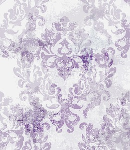 Baroque texture pattern Vector. Floral ornament decoration. Victorian engraved retro design. Vintage fabric decors. Luxury fabric lavender color Stock Vector