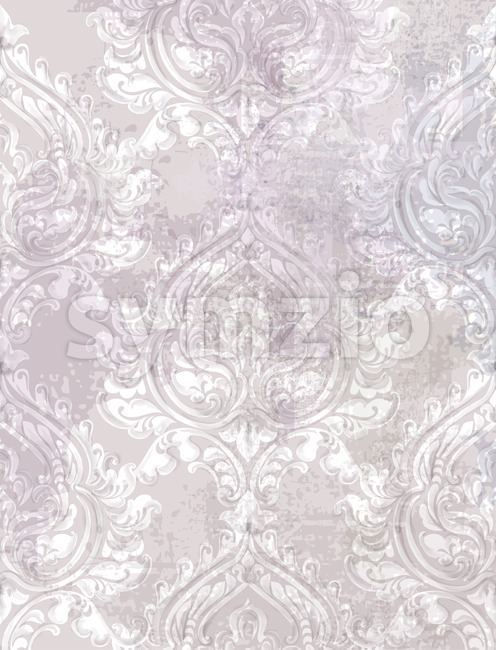 Baroque texture pattern Vector. Floral ornament decoration. Victorian engraved retro design. Vintage grunge fabric decors. Luxury fabric lavender Stock Vector