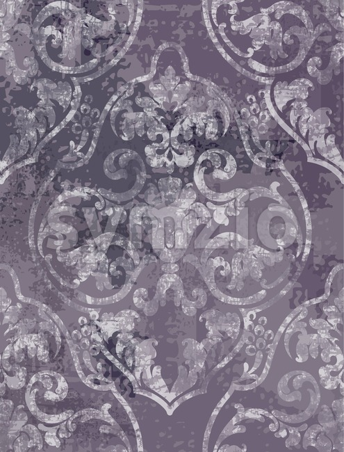 Rococo texture pattern Vector. Floral ornament decoration. Victorian engraved retro design. Vintage grunge fabric decors. Luxury fabric Stock Vector