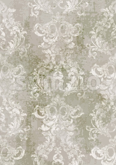 Rococo texture pattern Vector. Floral ornament decoration. Victorian engraved retro design. Vintage grunge fabric decors. Luxury fabric