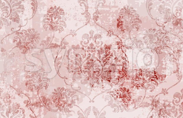Royal Baroque texture pattern Vector. Floral ornament decoration. Victorian engraved retro design. Vintage grunge fabric decors. Luxury fabric Stock Vector