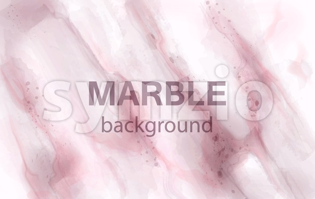 Pink marble Vector watercolor background. Luxury stone texture Stock Vector