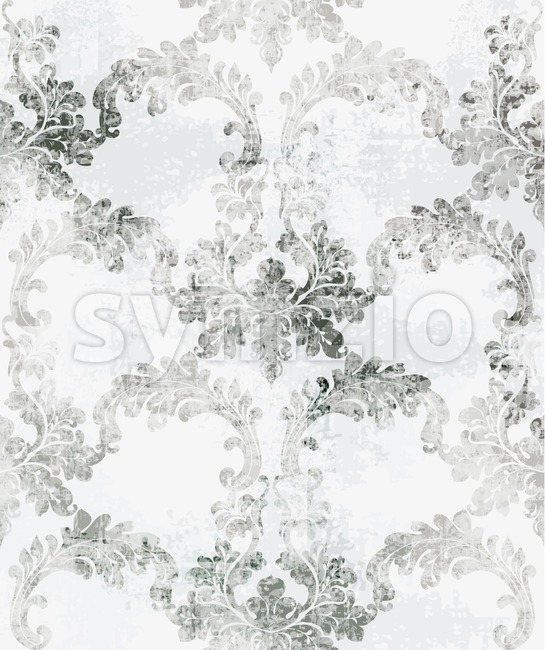 Baroque texture pattern Vector. Floral ornament decoration. Victorian engraved retro design. Vintage grunge fabric decors. Luxury fabric Stock Vector