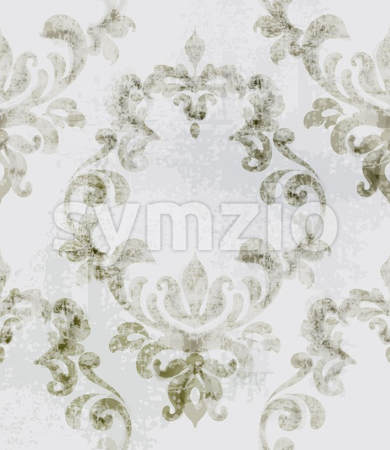 Baroque texture pattern Vector. Floral ornament decoration. Victorian engraved retro design. Vintage grunge fabric decors. Luxury fabric