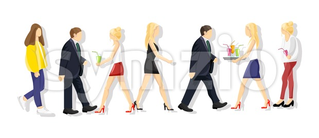 People lifestyle set Vector. Flat style colorful set isolated on white Stock Vector