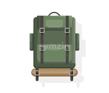 Camping bags isolated Vector flat style. Icon template activity sport luggage Stock Vector