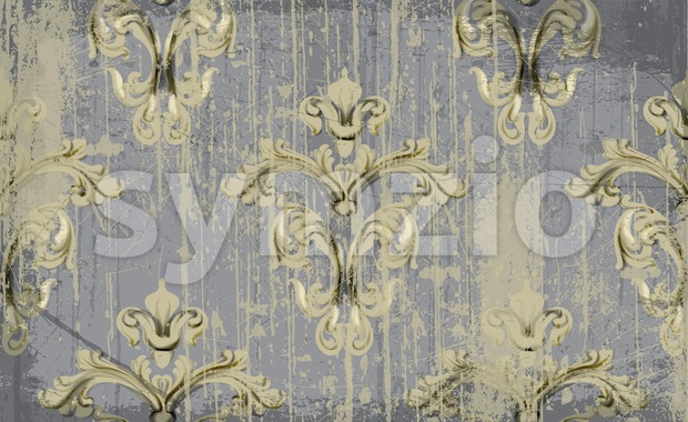 Vintage Ornament pattern Vector. Baroque rococo texture luxury design. Royal textile decor. Old painted background Stock Vector