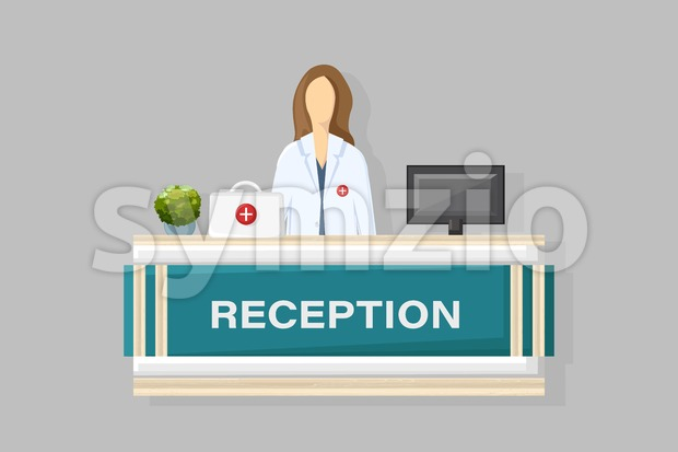 Medical reception Vector flat style. Doctor schedule appointment. Online consultation template