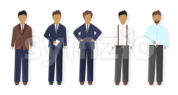 Business men Vector flat style. business team template icon isolated