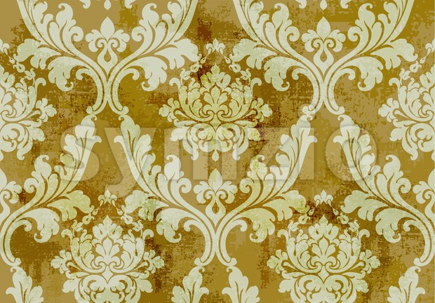 Vintage ornament pattern Vector. Baroque rococo texture luxury design. Royal textile decors. Old painted background Stock Vector