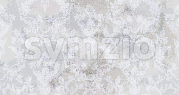 Vintage ornament pattern Vector. Baroque rococo texture luxury design. Royal textile decors. Old painted background