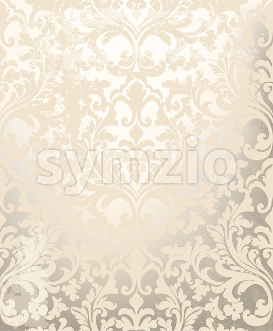 Vintage ornament pattern Vector. Baroque rococo texture luxury design. Royal textile decors. Glossy shiny background