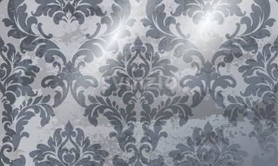 Vintage ornament pattern Vector. Baroque rococo texture luxury design. Royal textile decors. Glossy shiny background Stock Vector