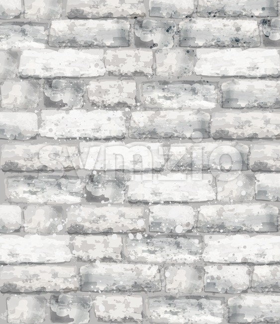 Brick texture Vector watercolor. Stone background template decor Stock Vector