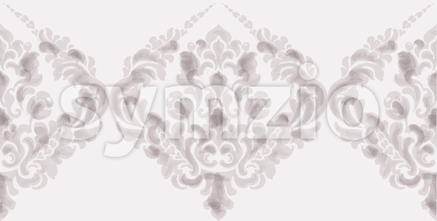 Classic elegant ornament pattern watercolor vector. Beige delicate color texture Stock Vector