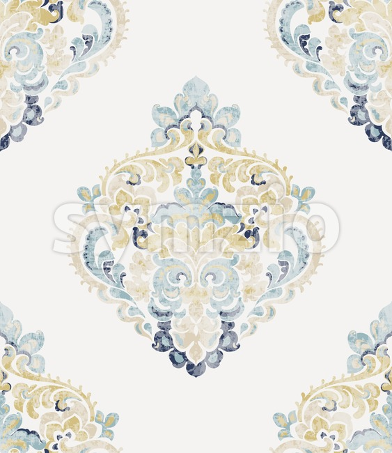 Baroque ornament Vector. Luxury watercolor trendy texture. Vintage retro old styled Stock Vector