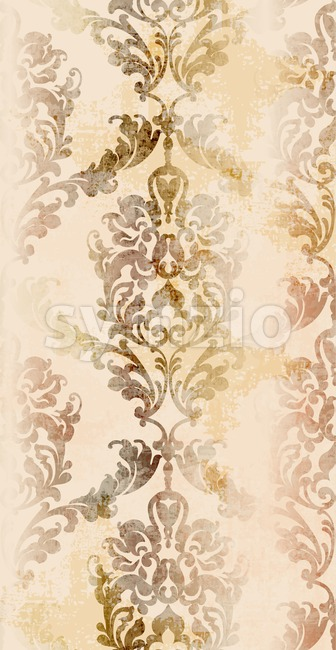 Baroque ornament Vector. Luxury watercolor trendy texture. Vintage retro old styled