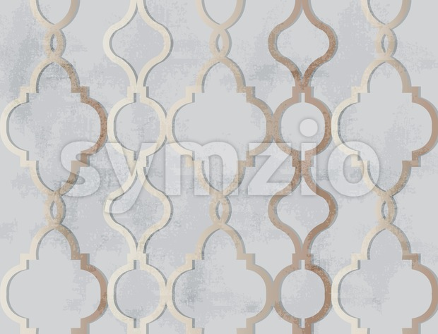 Arabic golden ornament pattern background Vector. Luxury elegant glossy color decor