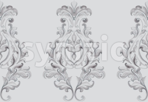 Baroque ornament Vector. Luxury watercolor trendy texture. Vintage retro old style Stock Vector