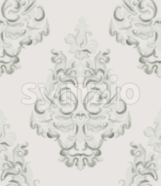 Baroque ornament Vector. Luxury watercolor trendy texture. Vintage retro old style