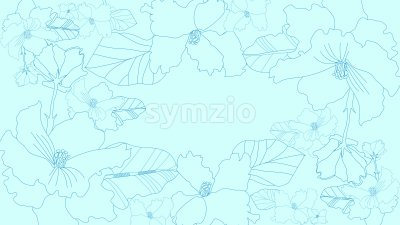 Lily Flowers with leaves on turquoise background. Vector Stock Vector