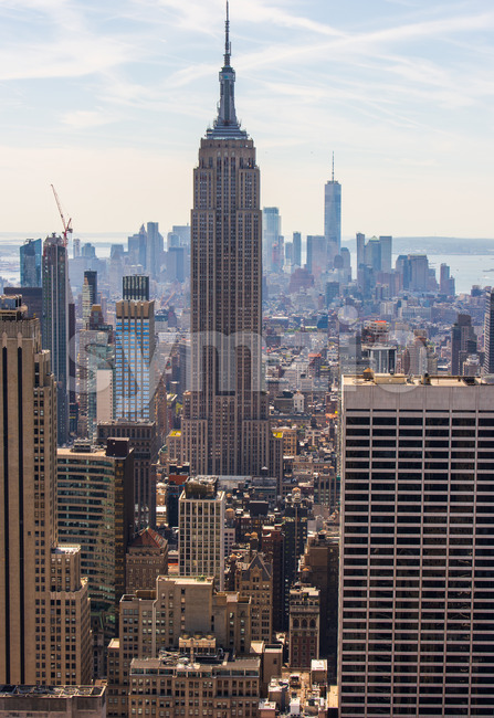 Empire State Building, a beautiful view of the New York city, Manhattan, USA Stock Photo