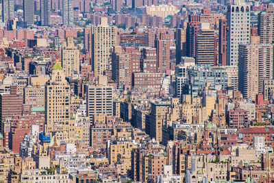 a beautiful view of the New York city, Manhattan, USA Stock Photo