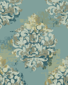 Baroque texture pattern. Floral decoration ornament. Vector Stock Vector
