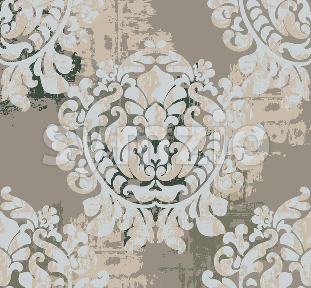 Vintage classic decoration background. Baroque design. Vector Stock Vector