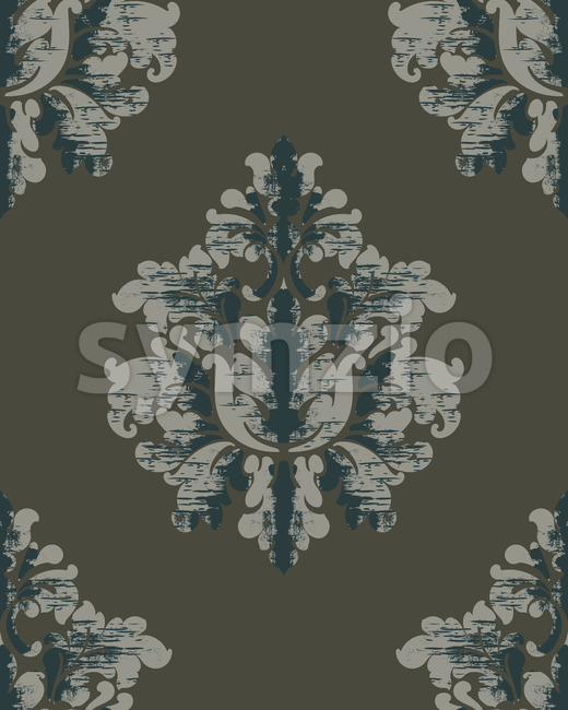Vintage pattern. Classic royal background. Damask wallpaper. Vector Stock Vector