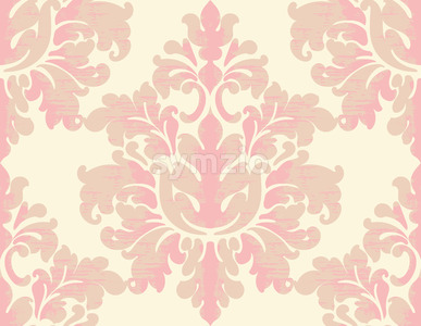 Damask vintage texture. Classic background with oriental elements. Vector Stock Vector