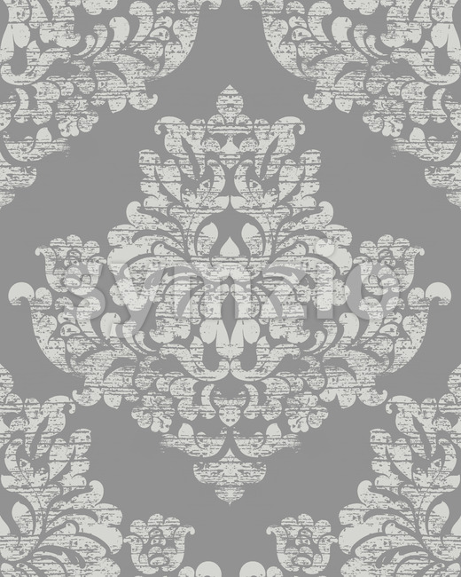 Classic luxury ornament on grunge background. Royal Victorian texture. Vector Stock Vector