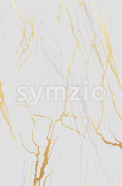 Abstract golden and grey lines on white background. Vector Stock Vector