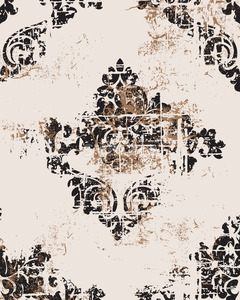 VIntage grunge baroque pattern. Royal luxury texture. Vector Stock Vector