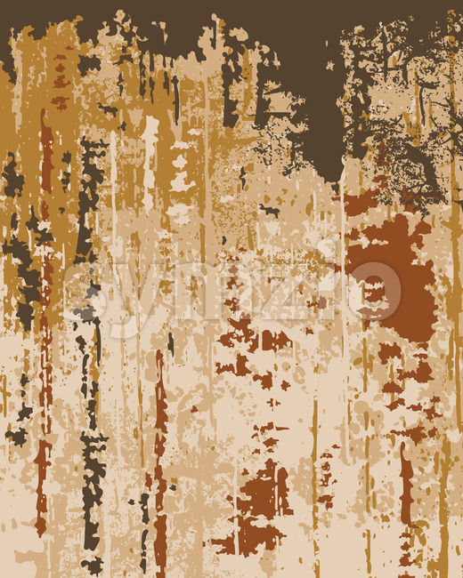 Old wallpaper texture. Peeling paint. Layers of different bright colors. Vector Stock Vector