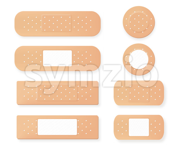 Plaster medical vector realistic. Advertise banner medical 3d illustration Stock Vector