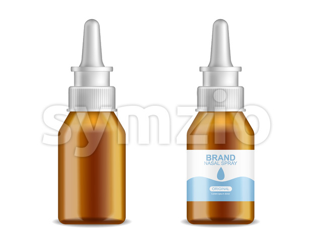 Tubes medicine vector realistic. Advertise banner medical pile of different treatment 3d illustration Stock Vector