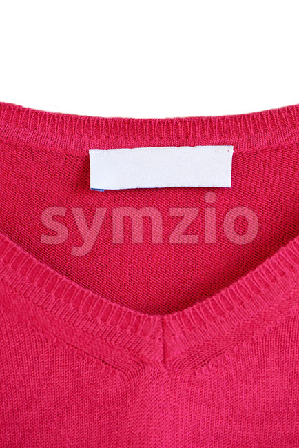 Place for logo on a red sweater Stock Photo