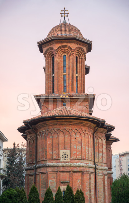 Kretzulescu church during the day, Bucharest, Romania Stock Photo