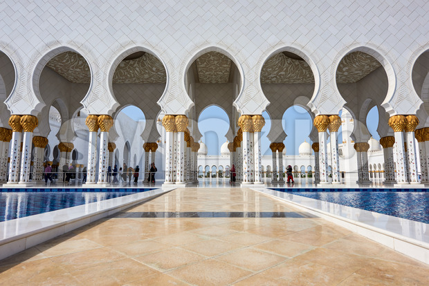 Sheikh Zayed Grand Mosque. Abu Dhabi, United Arab Emirates Stock Photo