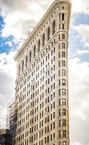 Flatiron building in New York, USA. Vibrant Colors Stock Photo