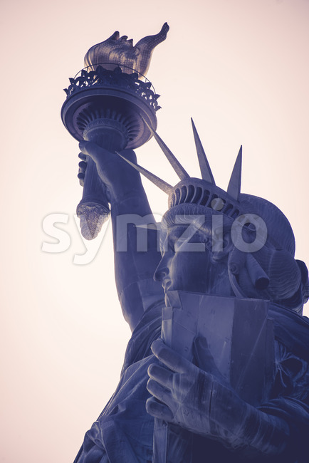 NEW YORK, USA - SEPTEMBER 19, 2019: Statue of Liberty. Vibrant colors Stock Photo