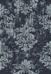 Damask vintage pattern. Grunge design. Dark and light colors. Vector Stock Vector