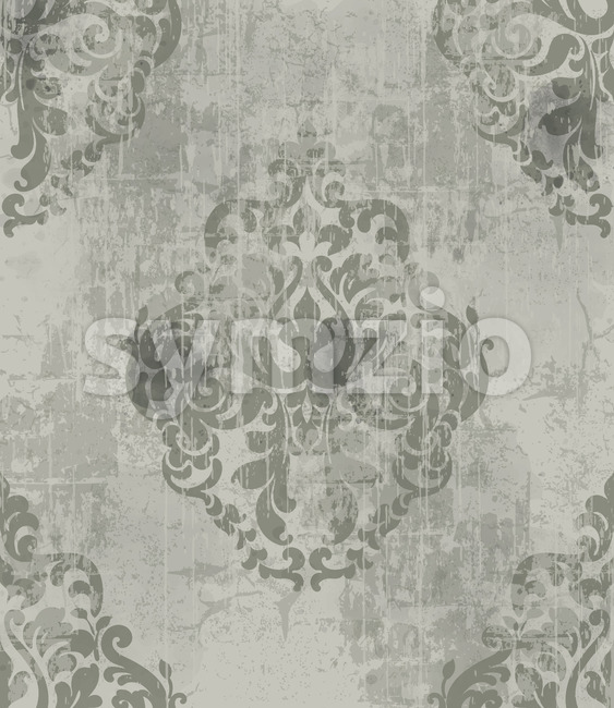 Imperial vintage ornament pattern. Royal victorian design. Grunge style. Vector